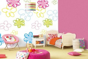 bright-wall-color-design-flowers-pink-kids-room-girl