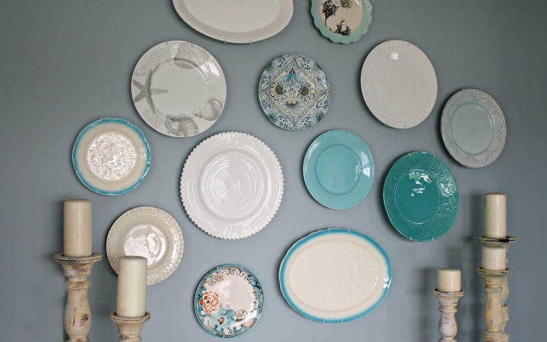 plate wall decor پنج ایده کمهزینه/ دکوراسیون خانه خود را به روز کنید