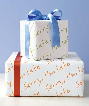 wrap sorry late 300 پنج ایده خلاقانه برای تزئین و کادو کردن هدیهها